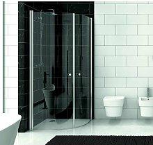 Cabina doccia semicircolare 90x90 con 2 ante