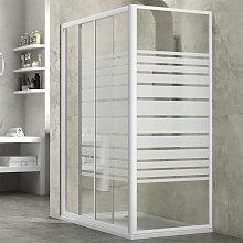 cabina doccia slide 2 lati serigrafato 120x70 +