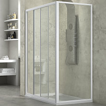 cabina doccia slide 2 lati trasparente 140x80 +