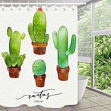 Cactus pianta vaso doccia tenda bagno tenda