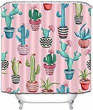 Cactus vaso fresco rosa semplice tenda doccia