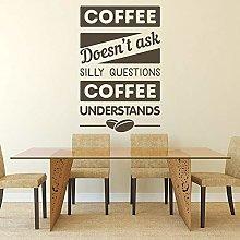 Caffè Citazione Adesivo Cibo Bevande Parole Arte