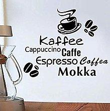 Caffè Decalcomanie da muro in vinile Decorazioni