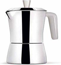 Caffettiera 3/1 tazza - manico e pomolo bianchi