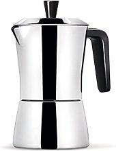 Caffettiera 6/3 tazze - manico e pomolo neri