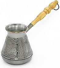 Caffettiera turca in rame, 200 ml, con manico in