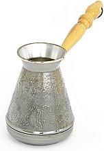 Caffettiera turca in rame, 400 ml, con manico in