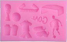 Calciatore Silhouettes Stampo in silicone per