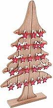Calendario Avv.pino legno c/stelle 29x49 cm