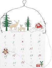 Calendario dell'Avvento con magnete paesaggio