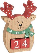 Calendario di Natale renna rossa e verde