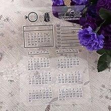 Calendario in silicone chiaro calendario timbro