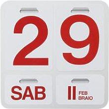 Calendario perpetuo FORMOSA, alluminio/rosso