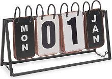 Calendario perpetuo in metallo 16x27 cm