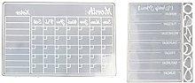 Calendario settimanale e mensile pianoforte resina