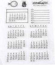 Calendario Timbro in gomma con calendario in