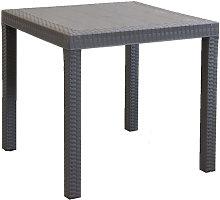 CALIGOLA - tavolo da giardino quadrato fisso in