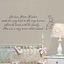 Camera Dei Bambini Peter Rabbit Frase Wall Sticker
