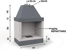 Caminetto in refrattario - Mod. KR 690 - Edilmark