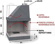 Caminetto in refrattario - Mod. KR 950 - Edilmark