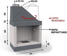 Caminetto in refrattario - Mod. KR2790 - Edilmark