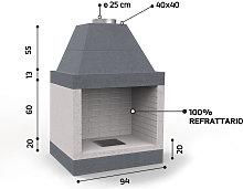 Caminetto in refrattario - Mod. KR790 - Edilmark