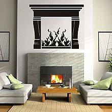Camino Wall StickerFuoco Home Decor Decorazione