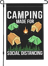 Camping Made for Social Distancing Garden Flags,