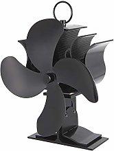 CAMPSLE Ventilatore per stufa a 4 pale,