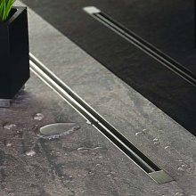 Canaletta di scarico slim 65cm in acciaio inox con