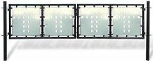 Cancello per recinzione doppio per esterni