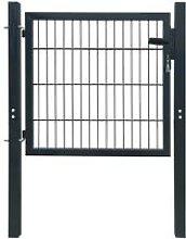 Cancello staccionata 2D (singolo) grigio antracite