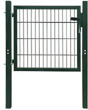 Cancello staccionata 2D (singolo) verde 106 x 130