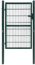 Cancello staccionata 2D (singolo) verde 106 x 210
