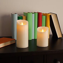 Candela a LED Flame in vera cera 12,5 cm