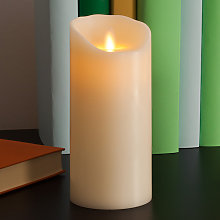 Candela a LED Flame in vera cera 18 cm