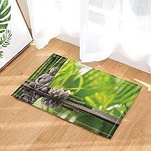Candela decorativa yoga in bambù con loto