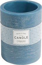 Candela lanterna blu scura H 12 cm