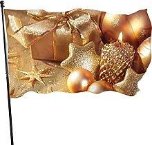 Candela natalizia Decorazioni in oro Bandiera da