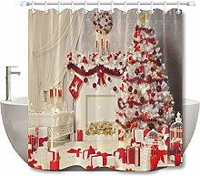 Candela scatola regalo ghirlanda rossa albero di