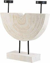 Candelabro in legno chiaro APANGO