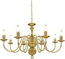 Candelabro Oro per 8 Lampadine Attacco E14 VD21557