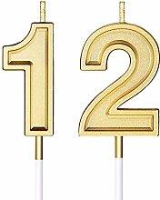 Candele di Compleanno di 12 Candele di Numero per