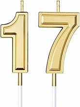 Candele di Compleanno di 17 Candele di Numero per