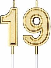Candele di Compleanno di 19 Candele di Numero per