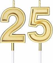 Candele di Compleanno di 25 Candele di Numero per