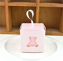 Candy Box 10pcs Hollow Bear Bomboniera e borse