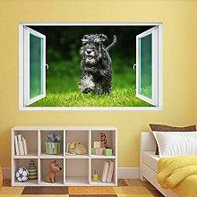 Cane Animale 3D Adesivo da parete Adesivo murale