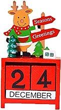 Canjerusof 1pc Natale scatola annuale in legno