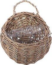 Canjerusof Woven Hanging Basket Wicker Rattan Wine